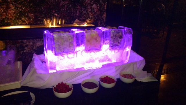 Fire ice party at the foundry nyc victorias wood fired pizza purple ice cream bar 2016 aloadofball Image collections