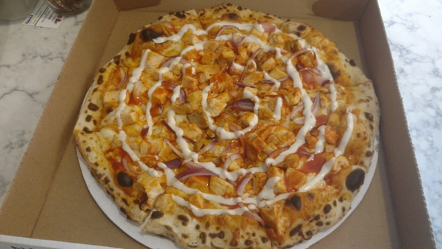 Buffalo Chicken Wood Fired Pizza