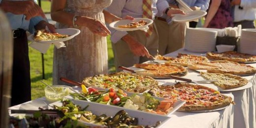 Pizza Truck wedding buffet