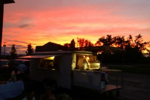 Pizza Truck at sunset 2017