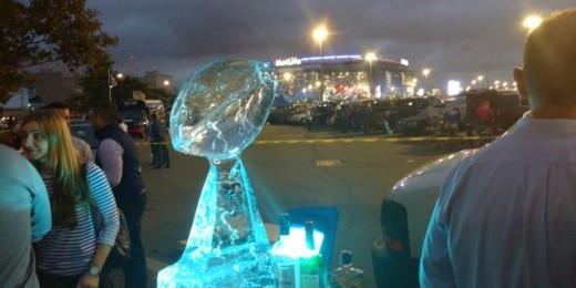 MetLife Stadium & Ice Sculpture 2017