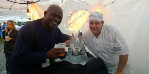 Chef Bruce & Lawrence Taylor Ice Sculpture 2018