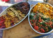 wood oven vegetables