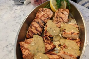 Salmon with Dijon  & Dill Sauce